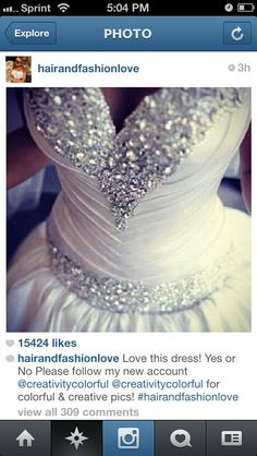 Beautiful front image of a wedding gown