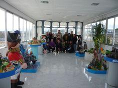 Grupo MACOM de visita en las instalaciones de Playmobil