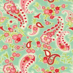 Délicieux  Paisley dans Aqua par Bonnie & par lilyrosequilts, $9.25