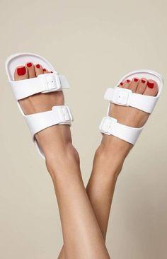 Kirra Double Buckle Slide Sandals at PacSun.com b089fe31c12b
