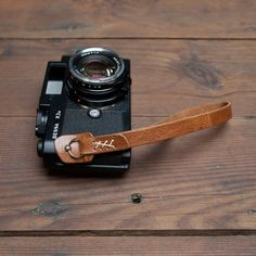 Leather Camera Strap by Wood & Faulk Camera Wrist Strap, Leather Camera Strap, Old Cameras, Vintage Cameras, Classic Camera, 35mm Camera, Camera Photography, Photography Tips, Camera Accessories