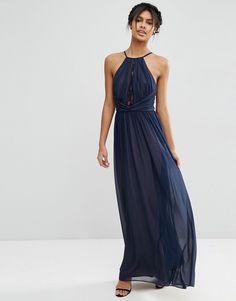 76€ Ago16Imagen 1 de Vestido largo con aplicación de encaje de ASOS