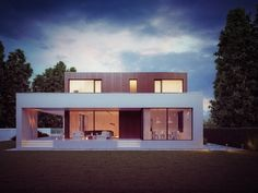 Wooden Cube House visualization by Michal Nowak