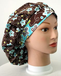 Hawaiian Flowers 3 Bouffant Surgical Scrub Hat by duehringphotocc, SOLD OUT