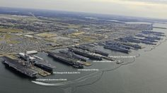 Just one picture to show why the US Navy is the most powerful navy on the surface of the earth, five nuclear-powered supercarriers, 4 amphibious assault ships (larger than most non-american carriers...