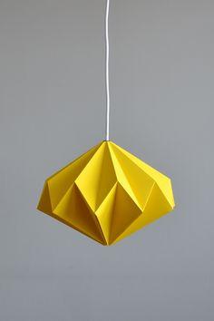 Oświetlenie Lampa Origami Starlight - Yellow, od projektanta Nowych Form Manufaktura | Mustache.pl
