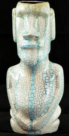 #1/3 Limited Edition Moai Tiki Mug by Gecko'z & South Sea Arts Hawaii | eBay  The glaze is so pretty on this!
