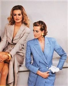 Karen & Tatjana FENDI Runway Show RTW S/S 1992