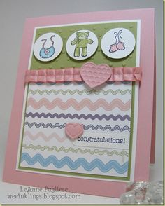 Baby card with SU's Baby Bundle