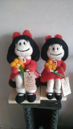 Muńecas hechas de vellón lana de ovejas, Mafalda
