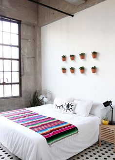 mexican; greenery; bedroom; colors