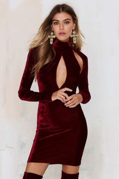 Oh My Love Great Pretender Velvet Cutout Dress - Dark Romance | Dark Romance…
