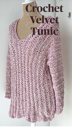 Crochet Cardigan Pattern, Crochet Blouse, Knit Crochet, Crochet Sweaters, Crochet Tops, Crochet Woman, Crochet For Beginners, Crochet Designs, Free Crochet Shawl Patterns
