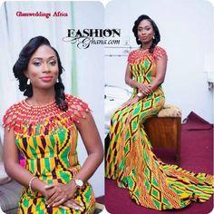 Fashion Ghana Magazine | Kente Dress ~African fashion, Ankara, kitenge, African women dresses, African prints, Braids, Nigerian wedding, Ghanaian fashion, African wedding ~DKK