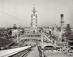 Dreamland amusement park in Coney Island, in the New York borough of Brooklyn, ca. Dreamland burned down in (AP Photo/Library of Congress) Vintage Photographs, Vintage Photos, Coney Island Amusement Park, Amusement Parks, Street Curb, New York Night, Photo Dream, Boston Public Library, Old Photos