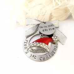 Hey, I found this really awesome Etsy listing at https://www.etsy.com/au/listing/253739178/personalized-2015-babys-first-christmas