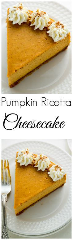 Pumpkin Ricotta Cheesecake with Brown Butter Crust and Grand Marnier ...