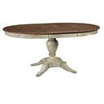 Milford Dining Table - Cornsilk - perfect two-tone oval dining table. Stop by & see us at L.A Waters in Statesboro, GA