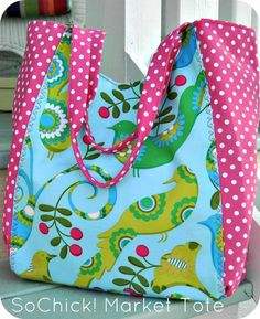 (9) Name: 'Sewing : SoChick! Market Tote