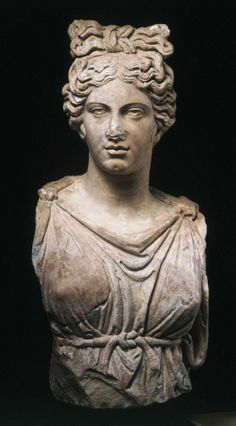 Roman, Antonine                              Colossal bust of a goddess or personification, ca. 160–190 A.D.               White marble