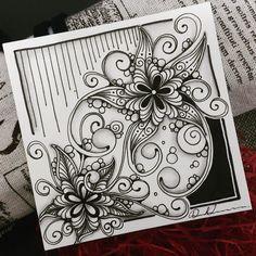 Doodle Art Drawing, Zentangle Drawings, Mandala Drawing, Doodles Zentangles, Tangle Doodle, Tangle Art, Zen Doodle, Sharpie Crafts, Sharpie Art