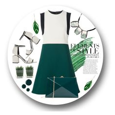 """""""green day"""" by lvfever ❤ liked on Polyvore featuring Alexander Wang, By Terry, Vera Wang, RGB, Marni, Aurélie Bidermann, Rocio and GREEN"""