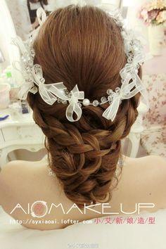 新娘发型,造型