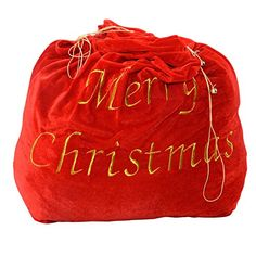 Goplus 35 x 31 Santas Bag Claus Christmas Gift Bag Candy Party Cookie Bags wBelt -- This is an Amazon Affiliate link. Visit the image link more details.
