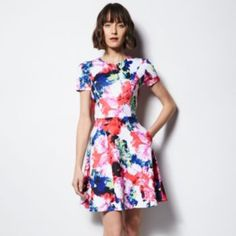 MILLY for DesigNation Floral Fit & Flare Scuba Dress - Women's Mommy and me $68