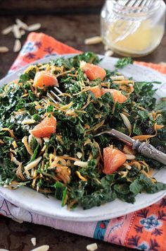 This refreshing low FODMAP kale salad will help you add kale to your menu more often. Not only is it a nutritious salad but it also keeps for days in the refrigerator. Make a big batch on the weekend and enjoy it for several lunches throughout the week. Healthy Salad Recipes, Diet Recipes, Vegan Recipes, Kale Recipes, Recipies, Fodmap Diet Plan, Low Fodmap, Diet Books, Fodmap Recipes