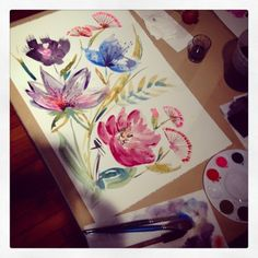 Watercolor by @marinabarbato