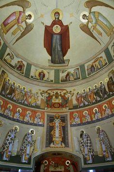 Byzantine Icons, Byzantine Art, Altar, Church Interior, Holy Mary, Art Thou, Orthodox Icons, Christian Art, Religious Art