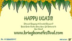 """Order any #UgadiFestivalItem at #BringHomeFestival and get 5% off on each product. #PROMOCODE: """"Ugadi 2016"""" Add to Cart: http://bit.ly/1PAjx06"""