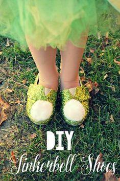 DIY Tinkerbell Shoes - mommylikewhoa.com