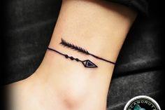 Tattoo arrow is a good choice for your new tattoo. A small tattoo by Acanomuta Tattoo Studio.