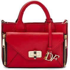 DVF MICRO SECRET AGENT LEATHER CROSSBODY BAG (655 AED) ❤ liked on Polyvore featuring bags, handbags, shoulder bags, lacquer red, mini crossbody, leather purses, leather cross body handbags, red purse and leather cross body purse