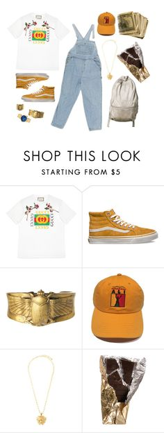 """He's no man, He's a king."" by weird-uncle ❤ liked on Polyvore featuring Gucci, Vans, Alkemie, Versace, Ela Stone, men's fashion and menswear"