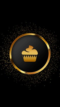 Instagram Logo, Instagram Design, Instagram Story, Gold And Black Background, Black And White Instagram, Cupcake Logo, Gothic Wallpaper, Bakery Logo Design, Instagram Background