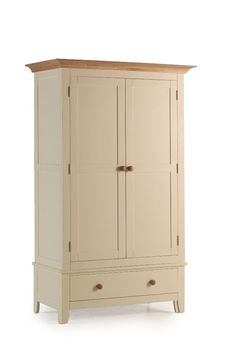 Camden Ash & Pine Double Wardrobe with Drawer