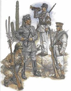 History! by Zhukov - The Military History Emporium | HUERTA'S FEDERAL ARMY, 1913-14 Infantry private;...