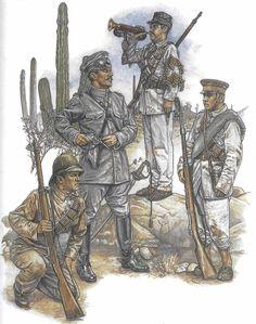 History! by Zhukov - The Military History Emporium | HUERTA'S FEDERAL ARMY, 1913-14 Infantry private;...