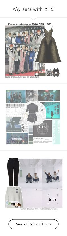 """""""My sets with BTS."""" by jk-jaylene ❤ liked on Polyvore featuring army, bts, BangtanBoys, Alex Perry, LORAC, LULUS, Chanel, Hot Topic, Arizona and H&M"""