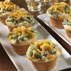 Mini Green Bean CasserolesGreat Recipes from FRENCH'S® Foods | FRENCH'S Mustard, Fried Onions, Worcestershire Sauce Products