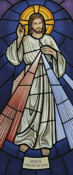 The Divine Mercy Art Print by Gilroy Stained Glass. All prints are professionally printed, packaged, and shipped within 3 - 4 business days. Choose from multiple sizes and hundreds of frame and mat options. Stained Glass Church, Stained Glass Art, Religious Images, Religious Art, Miséricorde Divine, Divine Mercy Image, St Faustina, Pictures Of Jesus Christ, Church Windows