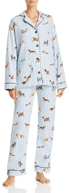 1a2b2aa2d PJ Salvage Doggone Tired Dog Print Flannel Cotton Pajama Set  #Tired#Dog#Doggone