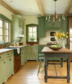 31 Popular Green Kitchen Cabinet Colors Ideas - 31 Popular Green Kitchen Cabinet Colors Ideas Informations About 31 Popular Green Kitchen Cabin - Green Kitchen Cabinets, Kitchen Cabinet Colors, Kitchen Colors, Kitchen Backsplash, Rustic Cabinets, Diy Kitchen, Kitchen Sink, Kitchen Hacks, Eclectic Kitchen