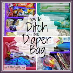 Ditch the Diaper Bag- Amazing organizational system to keep all your baby and young child supplies in the car.