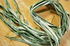 homemade nettle pasta--must make some this spring!