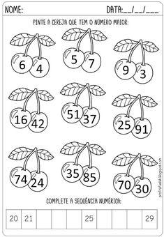 ATIVIDADES PARA IMPRIMIR DE MATEMÁTICA PARA 1º ANO Math For Kids, Puzzles For Kids, Kindergarten Math Worksheets, Preschool Activities, English Worksheets For Kids, Numbers For Kids, Money Games, Kids English, Reading Comprehension Worksheets
