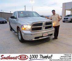 #HappyAnniversary to Jose Yanez on your 2009 #Dodge Truck #Ram 1500 from Jennifer Denson at Southwest KIA Rockwall!